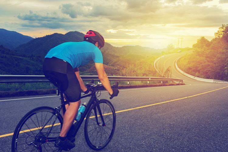 Ilustrasi sepeda balap.