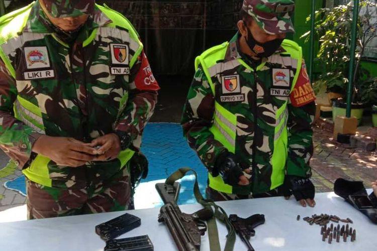 Dua pucuk senjata api diamankan anggota Koramil Sukolilo Surabaya