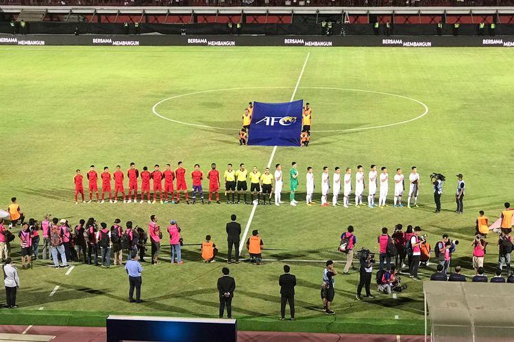 Laga keempat kualifikasi Piala Dunia 2022 Zona Asia Grup G antara timnas Indonesia vs Vietnam di Stadion Kapten I Wayan Dipta, Giantar, Bali, Selasa (15/10/2019) malam.