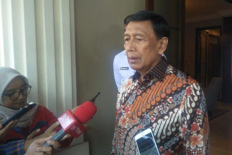 Menteri Koordinator Bidang Politik, Hukum, dan Keamanan (Menko Polhukam, Wiranto, di Kantor Kemenko Polhukam, Rabu (11/9/2019).
