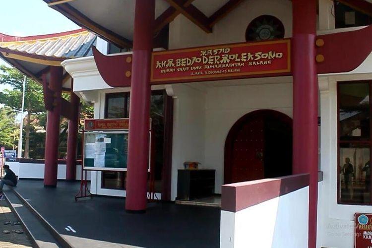 Masjid KHM Bedjo Dermoleksono, masjid mirip bangunan Klenteng di Rumah Sakit Umum Universitas Muhammadiyah Malang (RSU UMM), Kecamatan Dau, Kabupaten Malang, Selasa (27/4/2021)