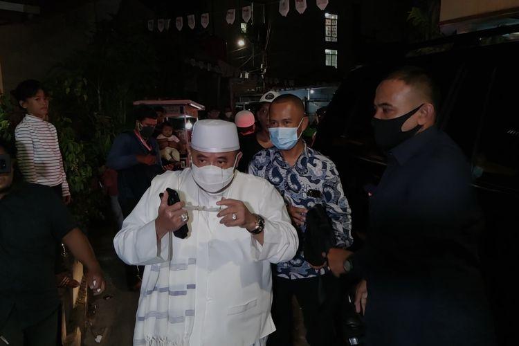 Sekjen Partai Keadilan Sejahtera (PKS) Aboe Bakar Al Habsyi menemui Rizieq Shihab di kediaman Rizieq di kawasan Petamburan, Tanah Abang, Jakarta Pusat, Rabu (11/11/2020).
