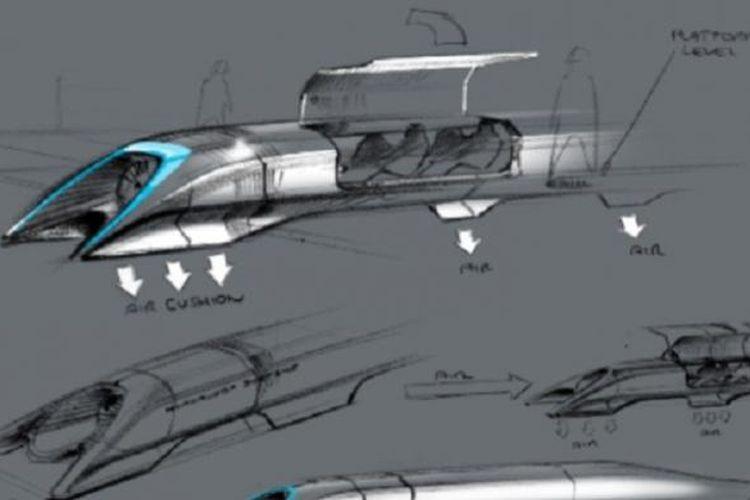 Sistem transportasi Hyperloop yang dirancang oleh penemu dan miliarder Elon Musk.