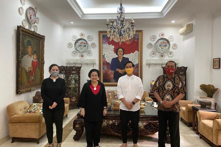 Gibran Rakabuming Raka menemui Ketua Umum PDI-P Megawati Soekarnoputri di kediamannya, di Jl Teuku Umar, Jakarta, Rabu (5/8/2020).