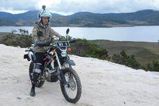 Ini Foto-foto Jokowi Saat Jajal Trans Papua dengan Motor Trail