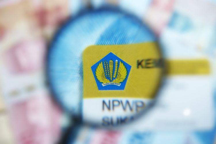 Ilustrasi kartu Nomor Pokok Wajib Pajak (NPWP) atau NPWP adalah. Gambar diambil pada 13 Mei 2020.