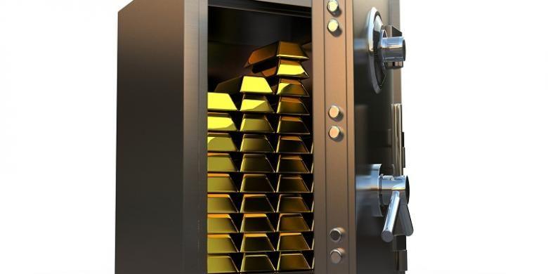 Ilustrasi brankas emas