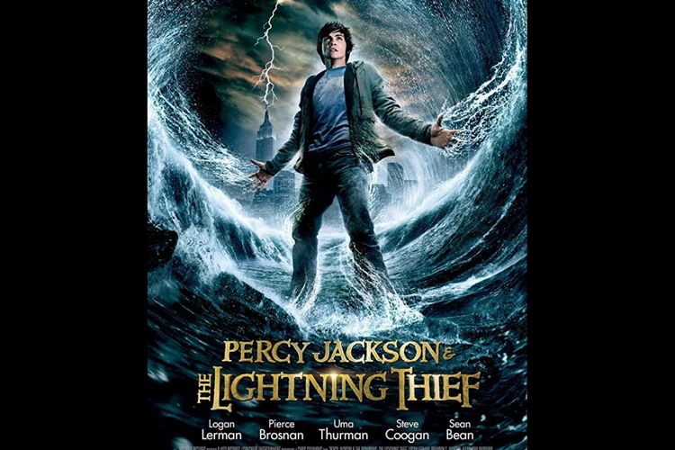 Poster film Percy Jackson & The Lightning Thief.