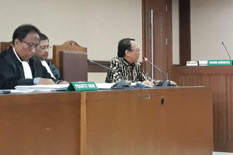 Mantan Menteri ESDM, Jero Wacik di Pengadian Tipikor Jakarta, Senin (23/7/2018).