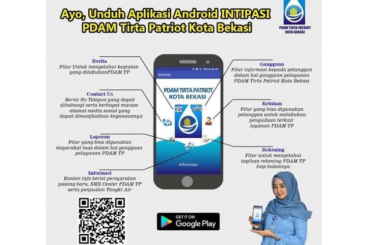 PDAM Tirta Patriot luncurkan Aplikasi berbasis Android INTIPASI, Minggu (11/11/2018).