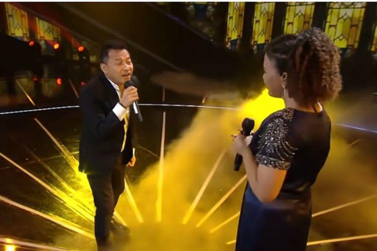 Duet Anang Hermansyah dan kontestan Indonesian Idol Special Season, Jemimah, Senin (15/3/2021).