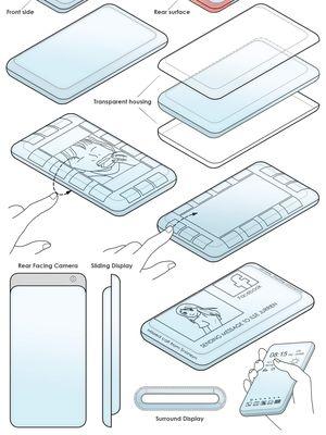 Samsung mendapat paten desain ponsel dengan layar depan dan belakang.