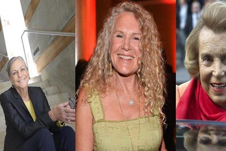 Alice Walton, Christy Walton, dan Liliane Bettencourt.