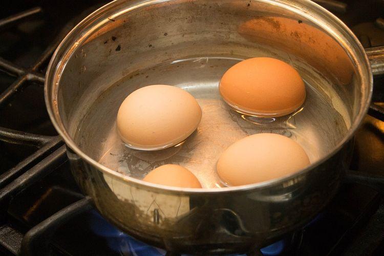 ilustrasi merebus telur