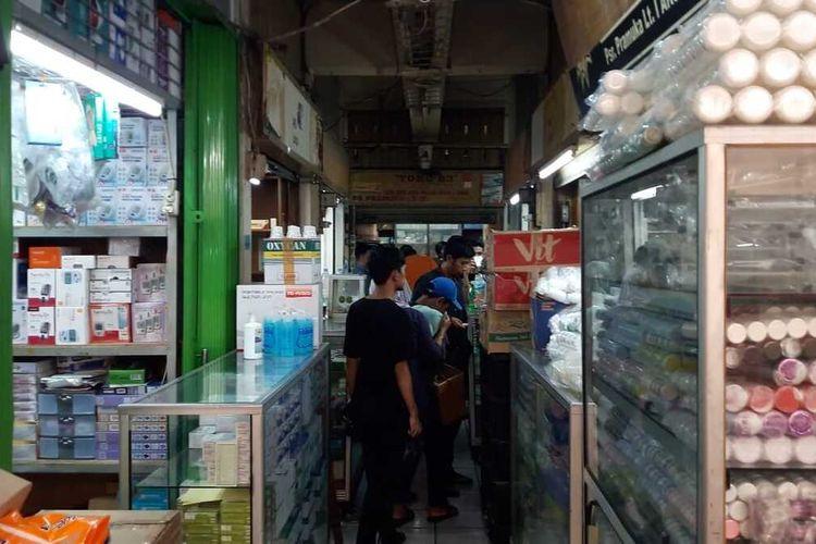 Situasi di Pasar Pramuka, Jakarta Timur, Selasa (4/2/2020).