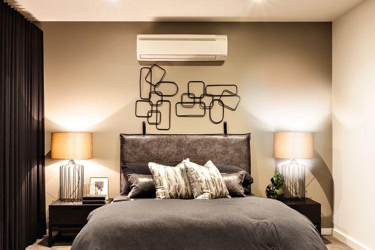Ilustrasi AC di kamar tidur.