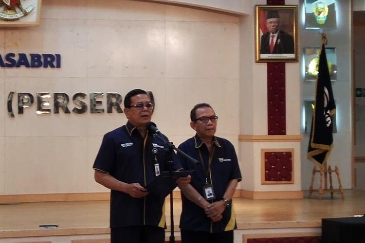 Direktur Utama PT Asabri Sonny Widjaja di Jakarta, Kamis (16/1/2020).