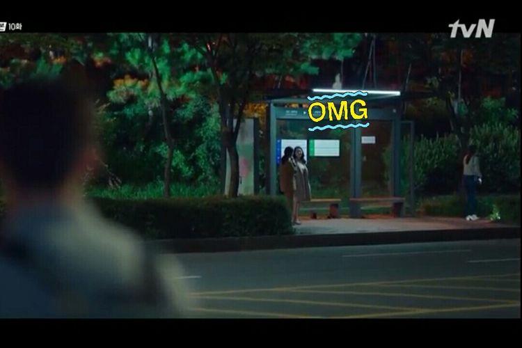 Tangkapan layar dalam salah satu episode dalam drama serial Start Up