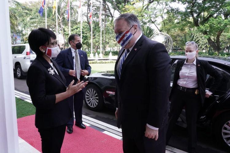 Menteri Luar Negeri Amerika Serikat Mike Pompeo saat bertemu dengan Menteri Luar Negeri Retno LP Marsudi di Jakarta, Kamis (29/10/2020).