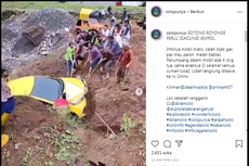 Video Viral Mobil Jatuh dari Tempat Parkir di Tawangmangu, Bagaimana Ceritanya?