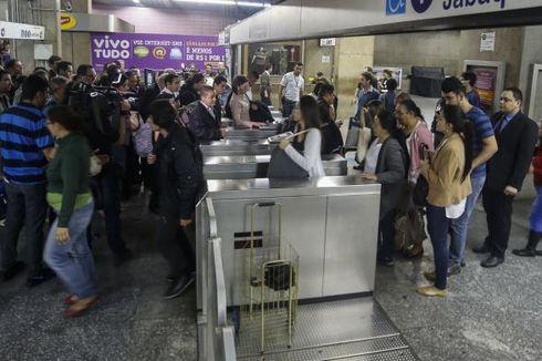 Sepekan Jelang Laga Pertama Piala Dunia, Stasiun Metro Lumpuh dan Demonstrasi Meluas di Sao Paulo