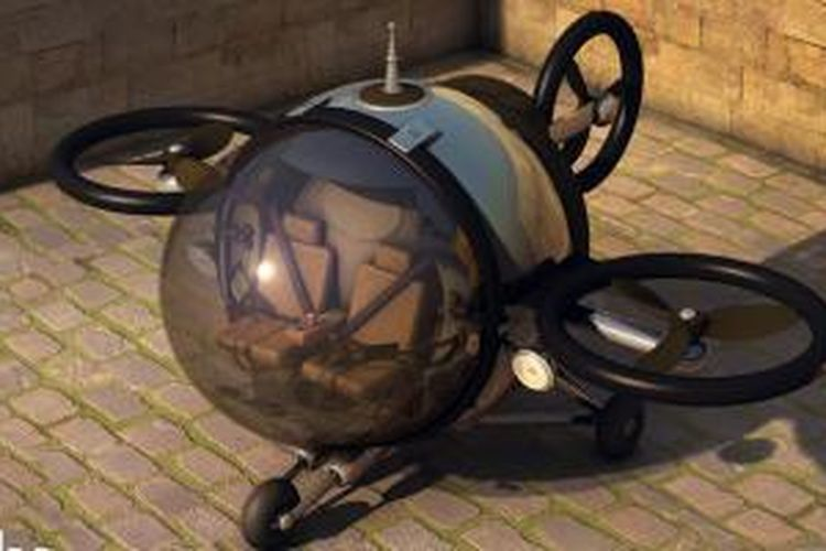 Konsep kendaraan yang menggabungkan mobil dengan helikopter.