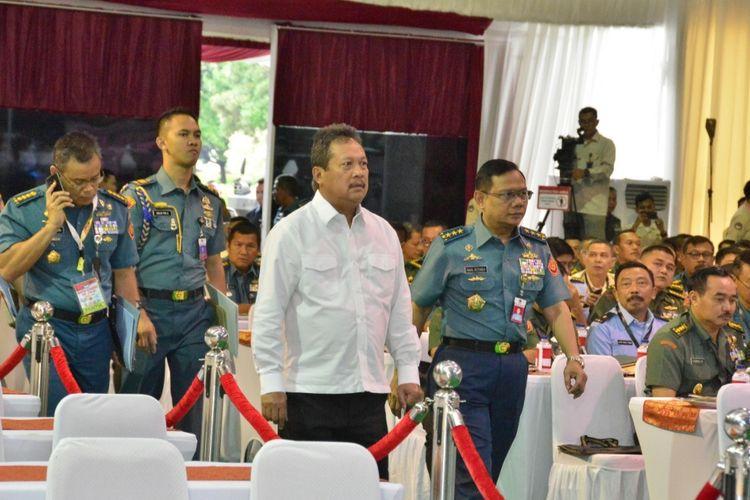 Wakil Menteri Pertahanan Sakti Wahyu Trenggono  membuka Rapat Pimpinan Kementerian Pertahanan (Rapim Kemenhan) 2020 di Kantor Kemenhan, Rabu (22/1/2020).