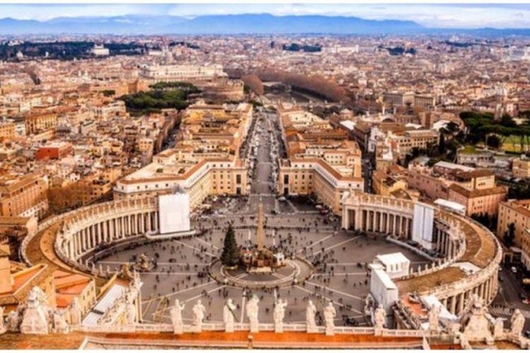 Negara Kota Vatikan yang merupakan negara dengan luas tersempit di seluruh dunia.