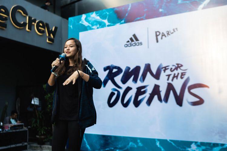 Melati Wijsen dalam Kampanye Run for the Oceans Minggu (1/7/2018)