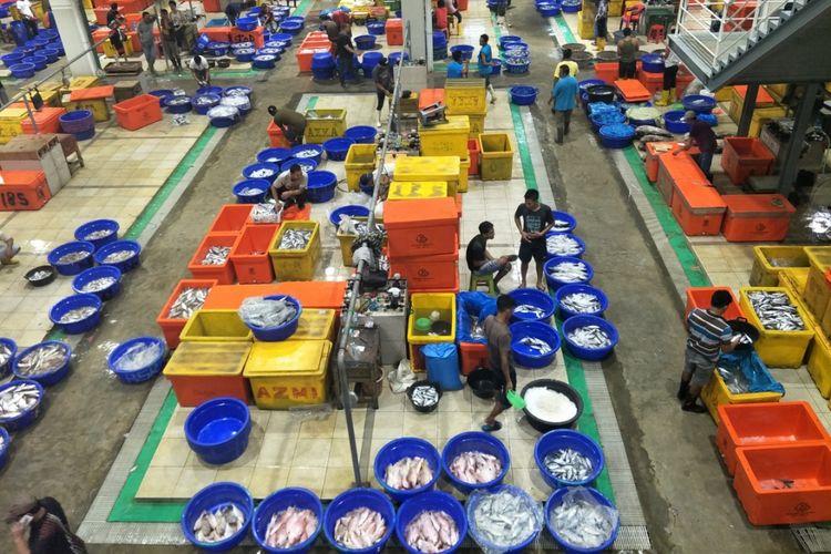 Pasar Ikan Modern Muara Baru, Jakarta Utara, Kamis (21/3/2019). indeks harga konsumen, indeks harga adalah, pengertian indeks harga