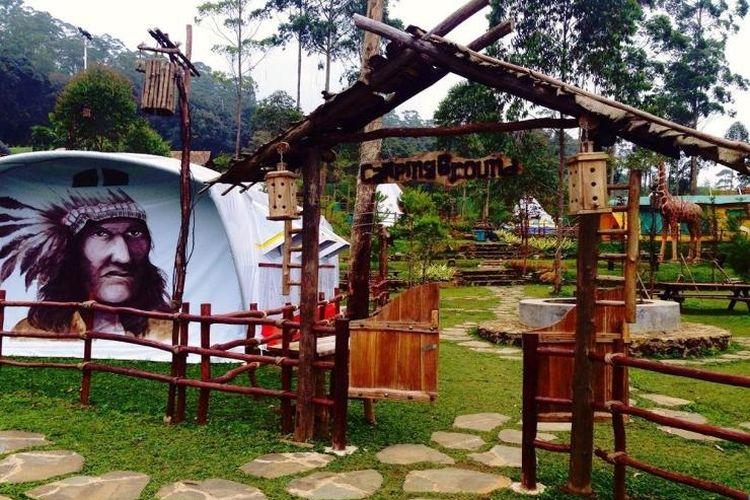 Area berkemah atau camping ground di Ciwidey Valley Resort
