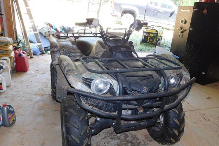 ATV Yamaha ini menjadi salah satu barang milik pembunuh berantai di Amerika Serikat, Todd Kohlhepp, yang dilelang. (Mears Land and Auction Company/Daily Mail)