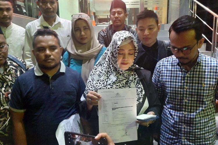 Anggota Dewan Perwakilan Daerah (DPD) RI Fahira Idris di Polda Metro Jaya, Jakarta Selatan, Jumat (1/11/2019).