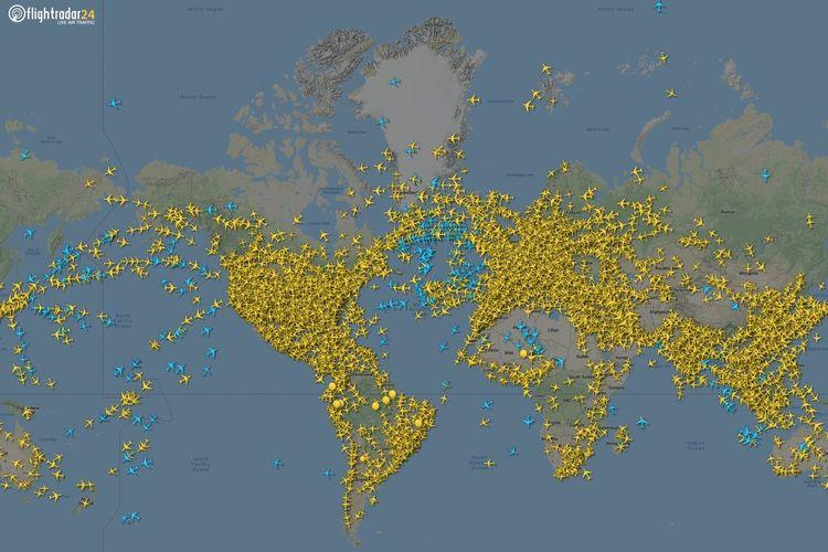 Situs pelacakan pesawat Flightradar24