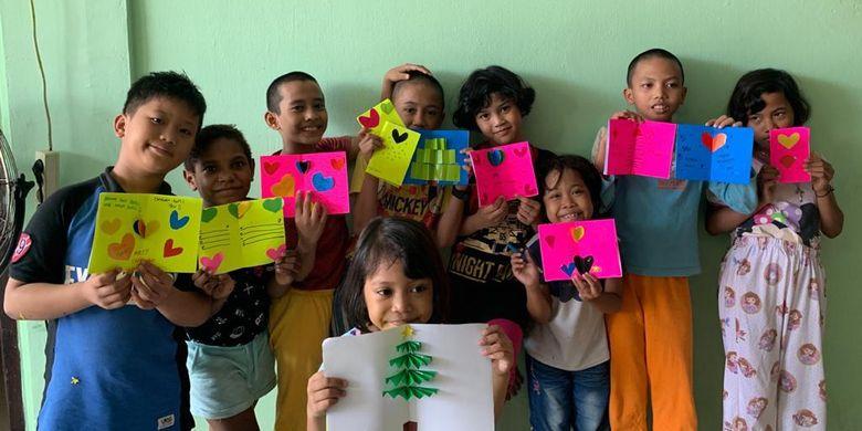 Anak-anak yang menjadi peserta program Nutrition for Zero Hunger STAR di Indonesia.