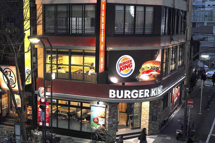 Ilustrasi gerai Burger King di Tokyo, Jepang.