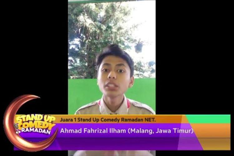 Komika berusia 17 tahun asal Malang, Ahmad Fahrizal Ilham