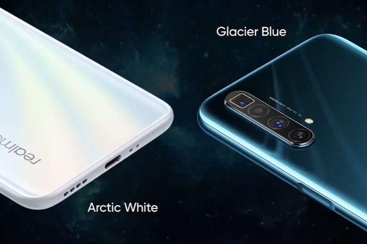 Realme X3 SuperZoom varianw arna Arctic White dan Glacier Blue.