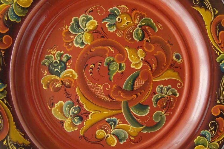 Coral motif dalam Kesenian Rosemailing
