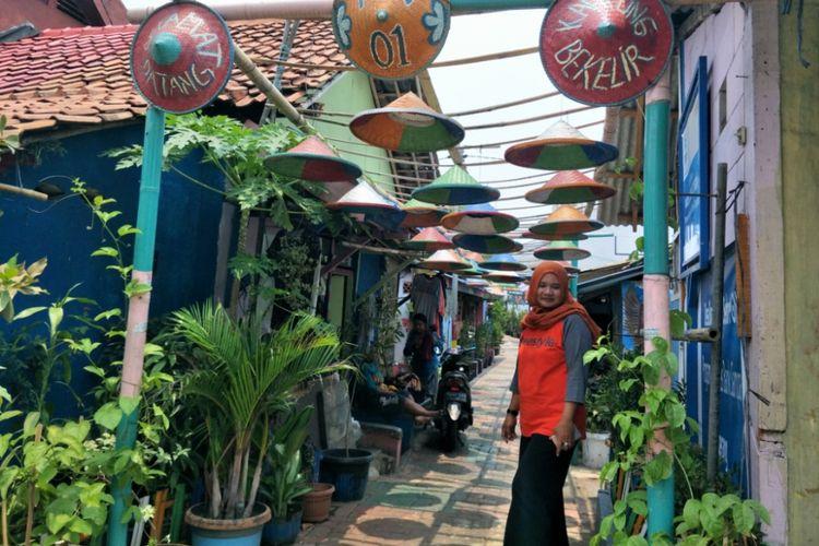 Suasana di Kampung Bekelir di RW 001, Kelurahan Babakan, Kecamatan Tangerang, Kota Tangerang, Minggu (30/9/2018).