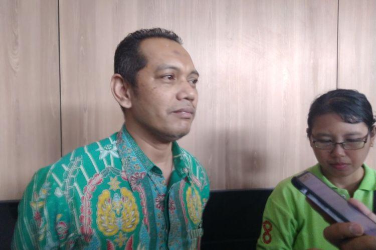 Wakil ketua KPK RI Nurul Ghufron saat diwawancara di auditorium Universitas Jember