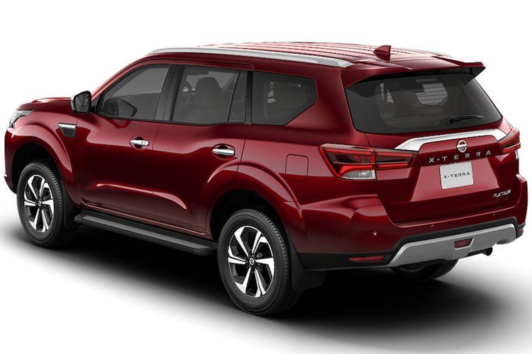 Tampilang bagian buritan Nissan Terra model baru.