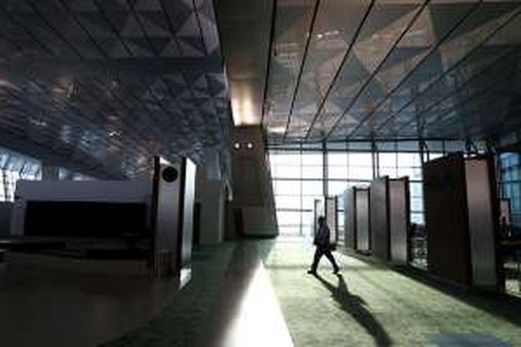 Suasana di Terminal 3 Ultimate Bandara Soekarno-Hatta, Tangerang, Banten, Selasa (9/8/2016). Terminal 3 Ultimate Bandara Soekarno-Hatta resmi beroperasi sepenuhnya hari ini.