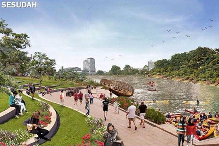 Desain revitalisasi Kalimalang yang diunggah Gubernur Jawa Barat Ridwan Kamil di akun Facebook dan Instagram miliknya. Desain direncanakan rampung dalam 100 hari ke depan. Kalimalang Baru rencananya bisa dinikmati warga Bekasi dan sekitarnya pada awal tahun 2020.