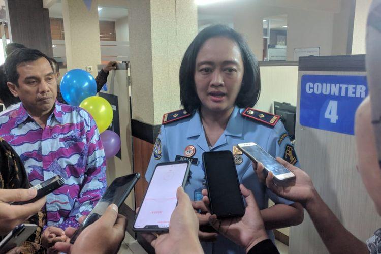 Kepala Kantor Imigrasi Non TPI Kelas I Tangerang Felusia Sengky Ratna saat ditemui di kantornya, Kamis (12/3/2020)