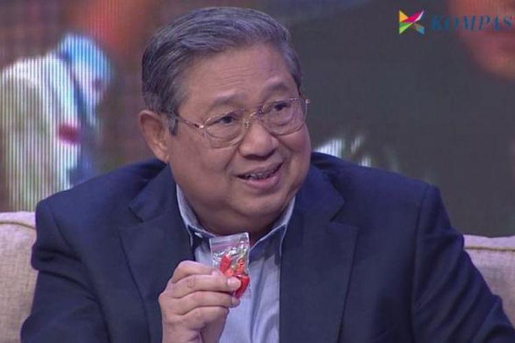 Presiden keenam RI Susilo Bambang Yudhoyono dalam program Rosi di Kompas TV