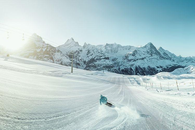 Permainan Ski di Grindelwald-First Area
