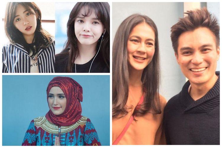 Kolase foto Mina eks AOA, Jimin AOA, Adelia Wilhelmina, Paula Verhoeven dan Baim Wong
