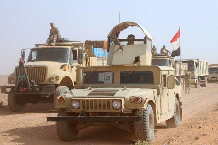 Pasukan Irak tengah bergerak maju menuju Kota Rawa (28/10/2017). Rawa diklaim sebagai basis terakhir ISIS. Perang dengan ISIS menghabiskan anggaran hingga Rp 1.350 triliun