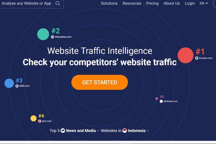 Kompas.com peringkat pertama Top 5 situs berita Indonesia